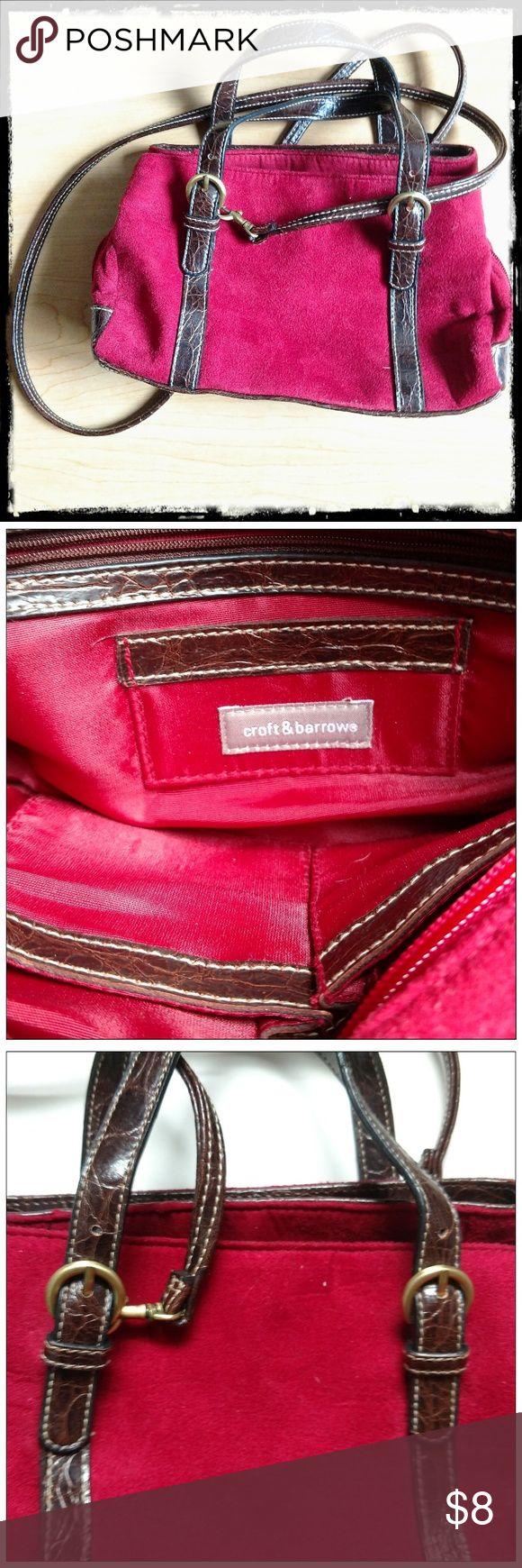 Shoulder/cross-body/small satchel-style purse Convertible Croft & Barrow bag; 3 …