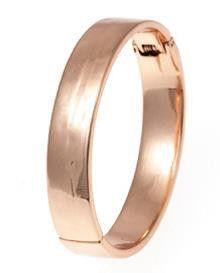 Bud to Rose online gladde armband met scharnier roségold