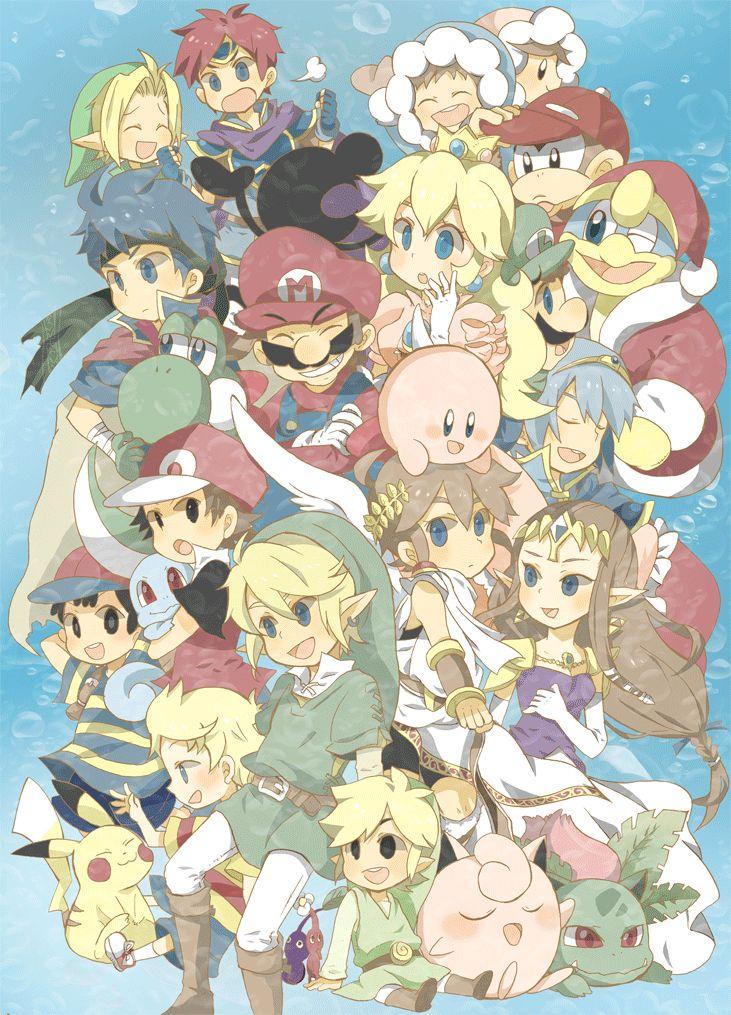 Nintendo Smash Brothers characters casting fan art