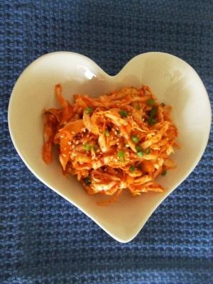 Korean Food: Cabbage Kimchi (양배추 무침)