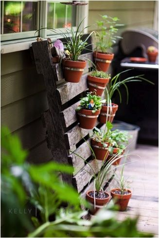 I would love to make this for the porch and plant herbs, plus some cool bike racks
