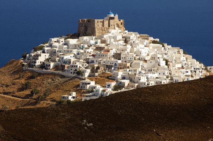 The historic Querini Castle at the top of the chora of Astypalea