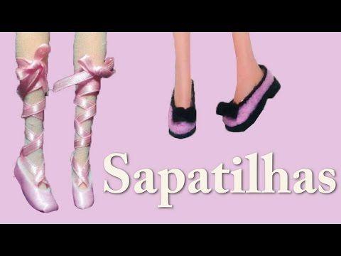 Como Fazer Sapato de Boneca # 5 : Sapatilhas para Barbie - YouTube