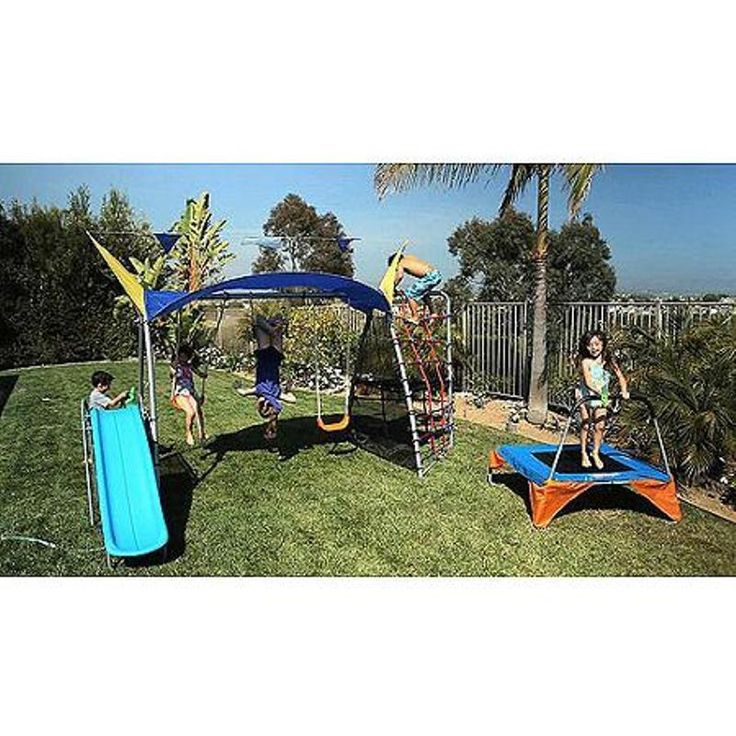 Playground Metal Swing Set UV Protective Sunshade Playing Kids Backyard Outdoor #Ironkids