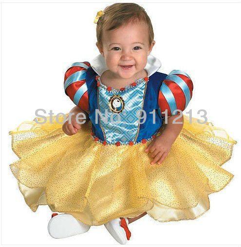 Kar beyaz prenses kız elbise sevimli bebek bebek parti elbise doğum günü elbise bebek yılbaşı çocuk giyim elbiseler kadın $17.60