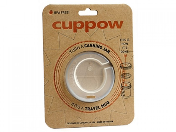Cuppow - adapter lid for wide-mouth mason jar :: Cuppow To-Go Lid for Mason Jars: Travel Mugs, Drinks Glasses, Canning Jars, Heat Resistance Glasses, Mouths Canning, Jars Cups, Mason Jars, Glasses Lids, Jars Drinks