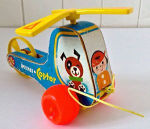 Vintage 1970. Collection. Jouet ancien. Mini Copter Fisher Price