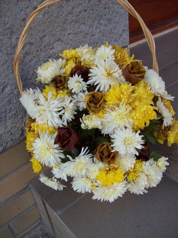 květinová vazba-koš