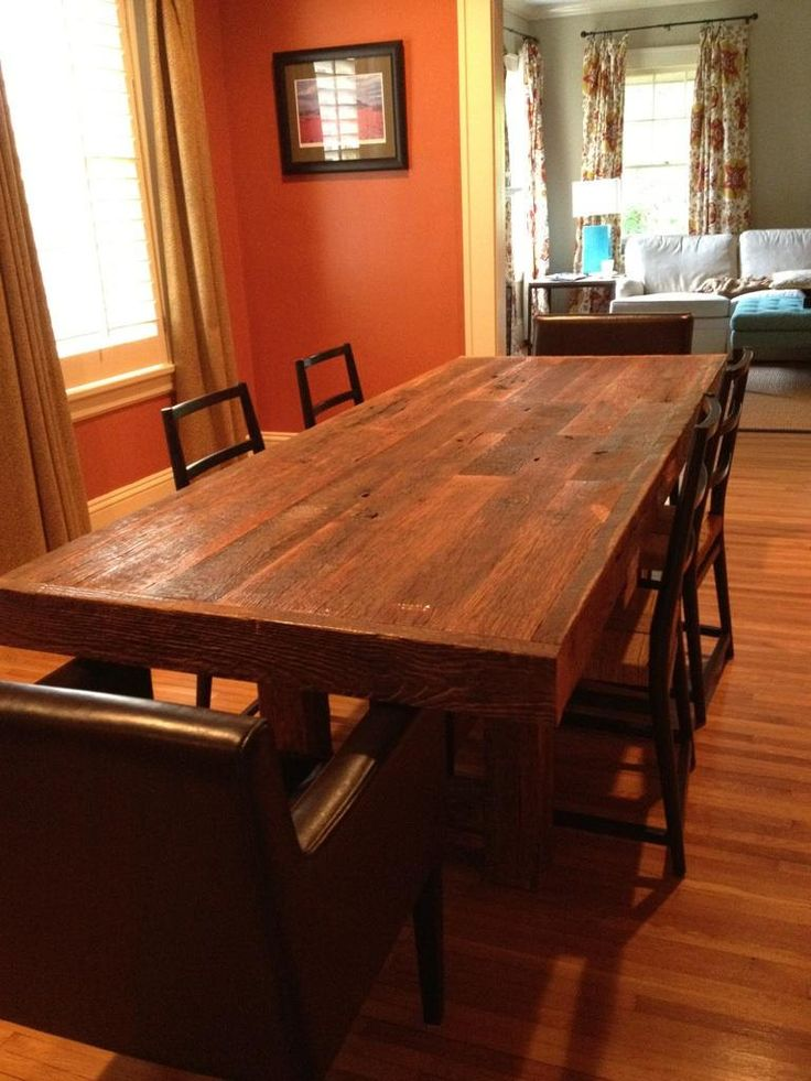 YOUR Custom Made Rustic Reclaimed Barn Wood Farmhouse Dining Table Or  Conference Table. $1,600.00,