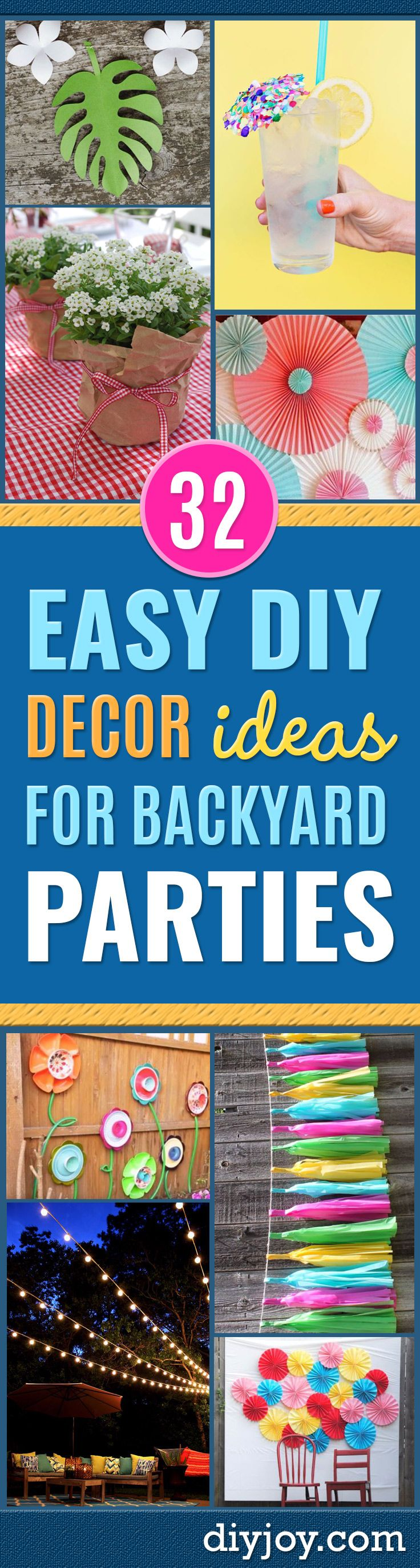 32 Easy Diy Decor Ideas For Backyard Parties