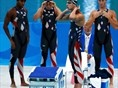 US men 400m freestyle relay, wins gold, but almost derailed Phelps' chances of winning 8 gold medals when Jason Lezak trailed by more than half a body length with 50 meters left. #comebackkid