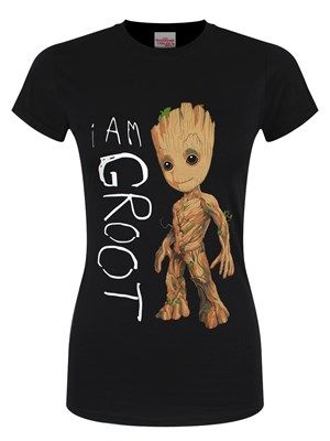 'I Am Groot' - one of the most legendary actors in the world and all Vin Diesel has to say is Groot! If you have been a huge fan of the movie adaptation of 'Guardians Of The Galaxy' since the first release, this tee in ebony black is a great way to celebrate the making of Vol.2! Capturing the humanoid's singular quotation, baby Groot stands proudly beside his iconic catchphrase. Official merchandise.