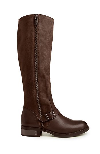 Circus by Sam Edelman Rider Boots in Brown | DAILYLOOK