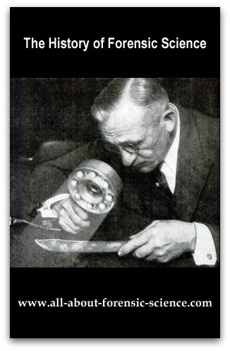 http://www.all-about-forensic-science.com/history_of_forensic_science.html Click on image or see link below for history of forensic science information and resources. Includes a forensic science timeline, classic articles from the early days of the discipline and highlights the work of leading forensic science pioneers. http://www.all-about-forensic-science.com/history_of_forensic_science.html