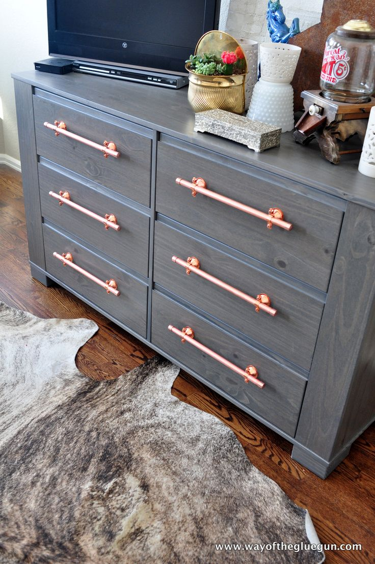 DIY Copper Drawer Pulls Update An IKEA Dresser | Read More At Http://