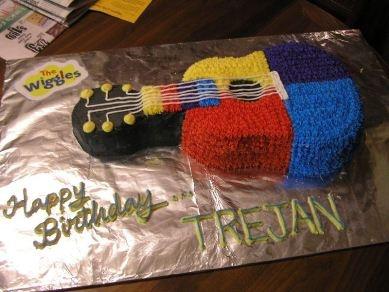 Wiggles Guitar Cake