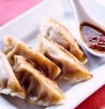 Pork and Ginger-Fuji Apple Chutney Pot Stickers - Ming Tsai