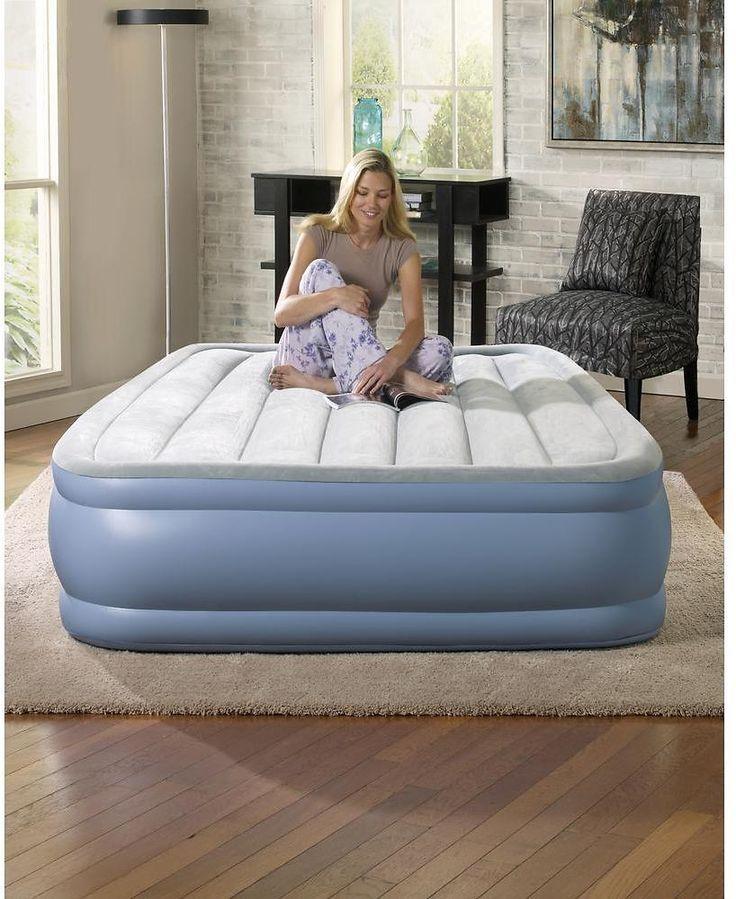 Full-Size 16 In. Hi Loft Raised Air Bed Mattress Set