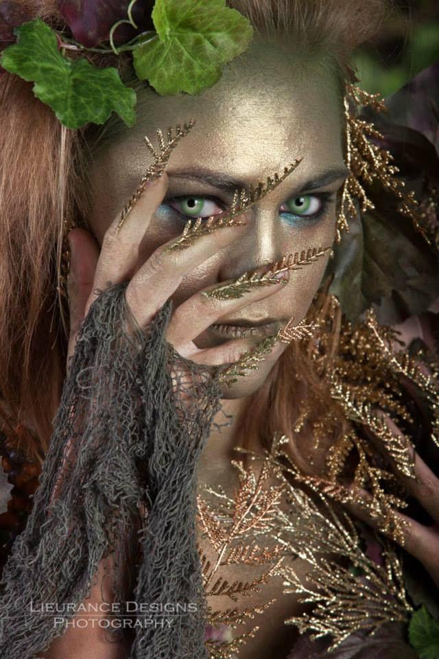 Forest Nymph. Inspirational fairy makeup idea.