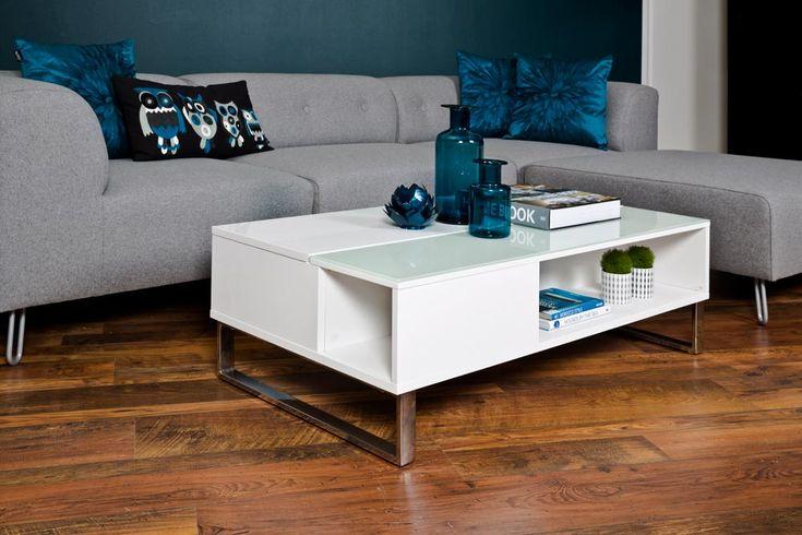 20411 Couchtisch Hochglanz Weiß Weißes Glas Chrom Hebefunktion Neu | eBay 189 statt 299€