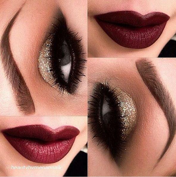 Burlesque style makeup OMG
