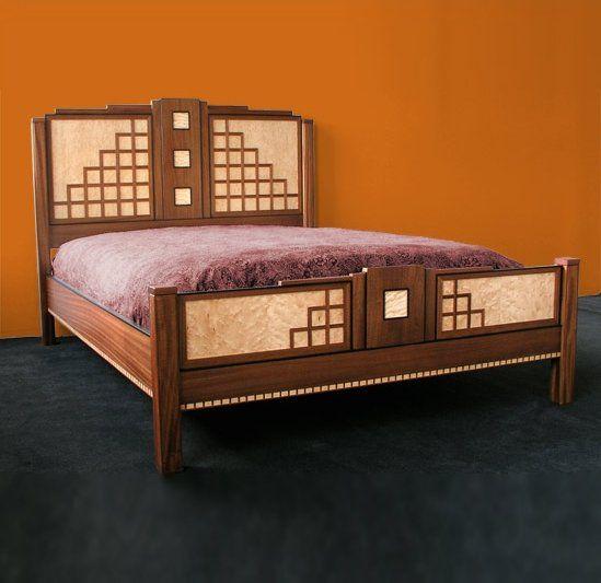 South Beach Miami Art Deco Bed By Joel Liebman Furniture