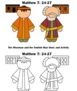 wise man and foolish man craft ideas 85 best images about church bible parable wise 8162