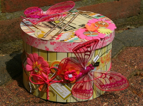 Gift - Box by NikkieScrap: Gift Boxes, Things Pink, Diy Crafts, Shabby Chic, Paper Crafts