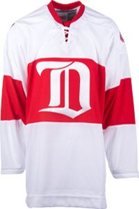 Detroit Red Wings CCM Vintage 1926 White Replica NHL Hockey Jersey