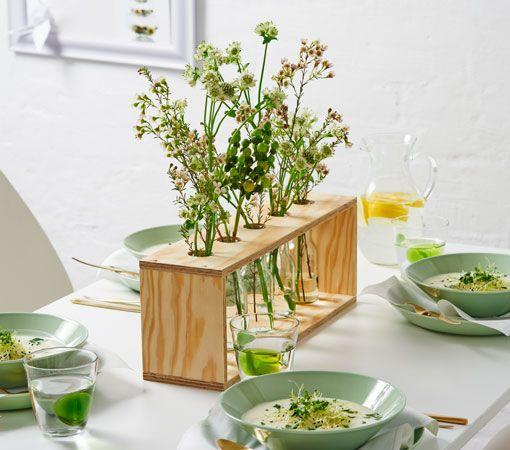 Centro de mesa de madera