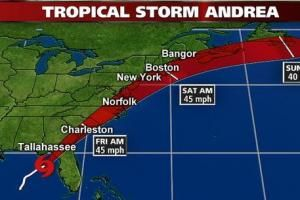 LIVE WEATHER UPDATES: Tropical Storm Andrea - The Palm Coast Observer