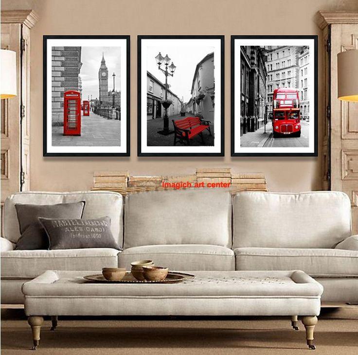 Винтажный стиль фотографии гигант сайт фотографический безрамное картина лондон красный автобус телефонная будка на холсте предметы интерьера