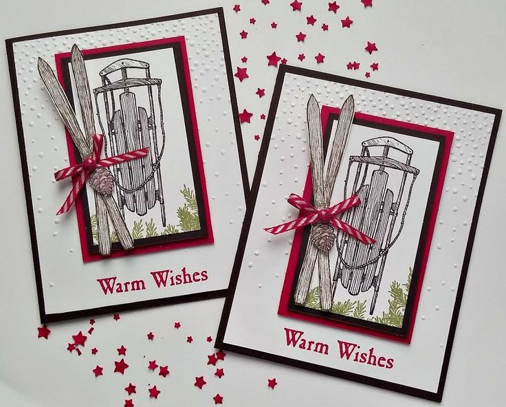 Stampin' Up! Warm Winter Wishes Christmas Card! www.ladyandherstamps.blogspot.com Come and visit with me!