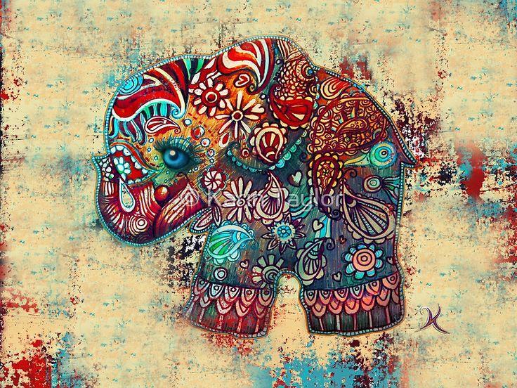 """""""Salida * todos los otros 30 productos de elefante de la vendimia * que ahora están disponibles aquí, incluyendo camisetas, sudaderas, revistas, bufandas, polainas, faldas, casos, pieles, bolsas, bolsas, cojines, impresiones de lienzo, impresiones enmarcadas, fotográficas grabados, reproducciones, láminas metálicas, etc """": http: //www.redbubble.com/people/karin/works/6476425-vintage-elephant *"""" elefante de la vendimia comenzó su vida co..."""