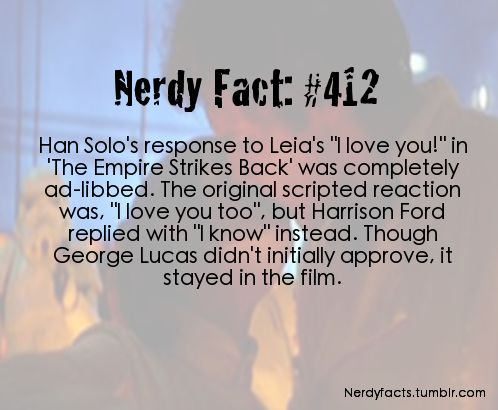 This is crazy because it is pretty much one of the most quoted scenes in all of geekdom