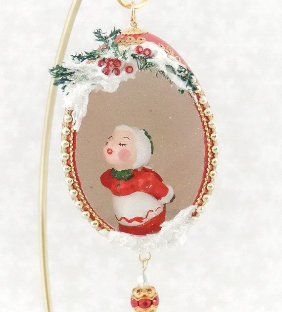 Mrs Claus Christmas Decorations Part - 33: Mrs Claus Christmas Tree Ornament Mrs Claus Decorated #Egg Ornament  Christmas Http: