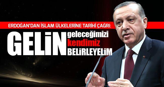 """Cumhurbaşkanı Erdoğan'dan İslam ülkelerine tarihi çağrı/ Erdoğan, """"Gelin artık tavrımızı ortak belirleyelim. Artık biz sömürülen ülkeler olmaktan çıkalım. Yıllarca Afrika'daki ülkeleri Batının nasıl sömürdüğünü bana anlatıyorlar. Oradan madenleri nasıl çıkarıp aldıklarını kendileri anlatıyorlar. Gelin geleceğimizi kendimiz belirleyelim"""" dedi."""