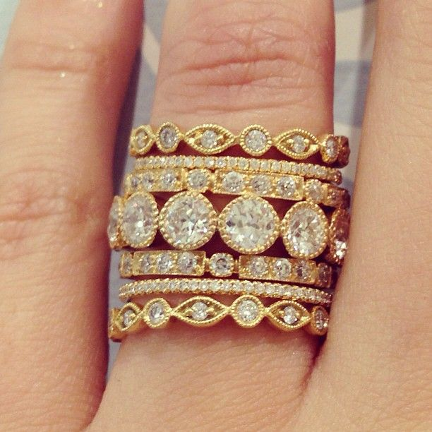 Gorgeous yg stack from single stone in LA.