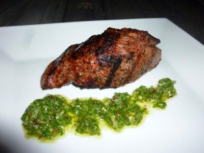 Teres Major Steak and Chimichurri Sauce
