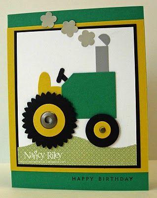 Karte mit Traktor