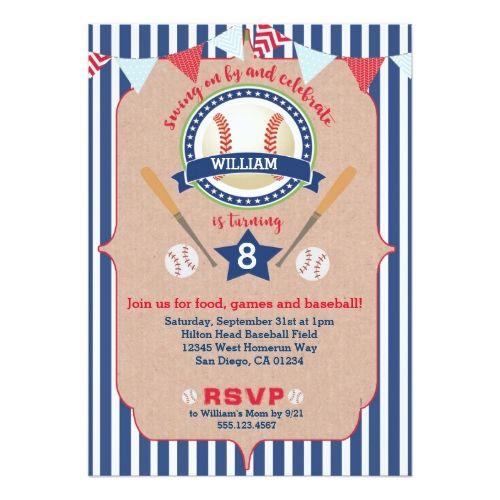 Best Sports Birthday Invitations Images On Pinterest - Birthday invitation zazzle
