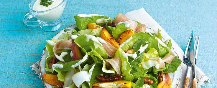 Salada de Pêssego Grelhado