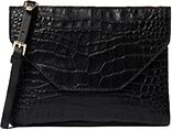 Massimo Dutti serves up bite-sized sophistication with their crocodile print clutch.