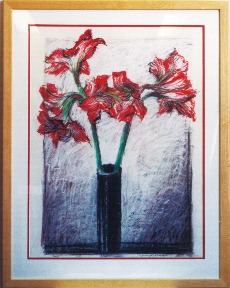 """The Black Vase"" Pastel on Paper"