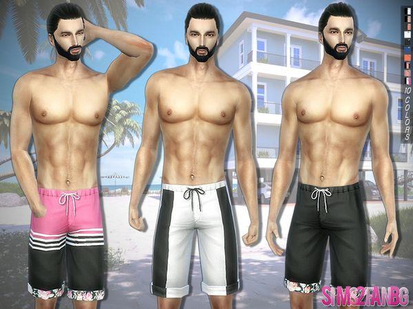 sims2fanbg's 294 - Swimwear Boardshorts