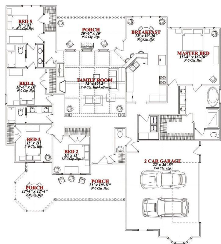 Awesome Bedroom House Collection Ideas The House Does Have A Couple Of Great Things Though Victorian House Plans 5 Bedroom House Plans House Plans One Story