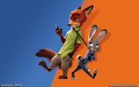 Ausmalbild Nick Und Judy Hopps Aus Zootopia: Judy Hopps Dragging Nick Wilde With Her In #Zootopia