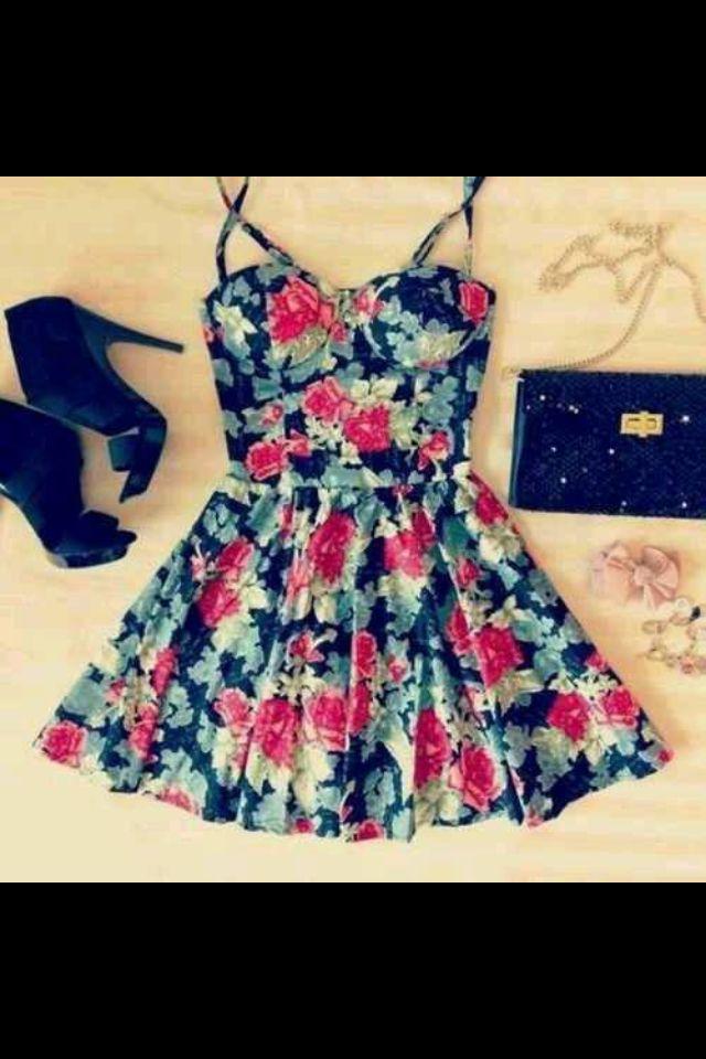 Vestido print de flores