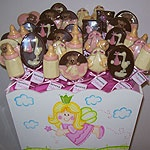 Chocolates para el nacimiento de una bebita