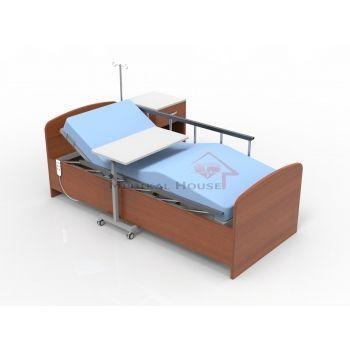 Comfort Ahşap Elektrikli Hasta Karyolası Hasta Yatağı Yemek Masası